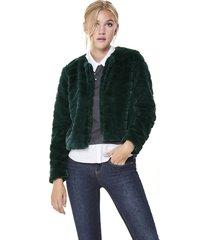 chaqueta jacqueline de yong evan verde - calce regular