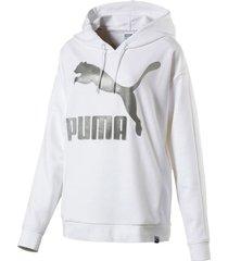 buzo blanco puma classics t7 hoodie 575069-02