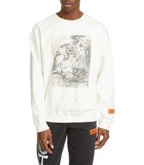 men's heron preston heron birds organic cotton graphic sweatshirt
