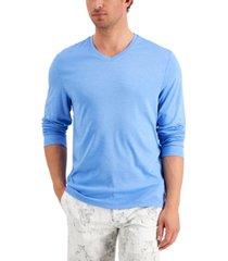 alfani men's alfatech long-sleeve v-neck shirt, created for macy's
