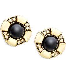 fancy totem crystal stud earrings
