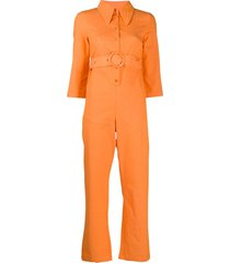 house of sunny belted jumpsuit - orange
