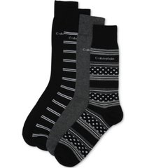 calvin klein men's 4-pack stripe & dot dress socks