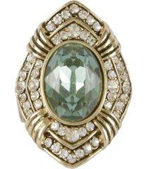 maxi anel armazem rr bijoux pedra verde - incolor - feminino - dafiti