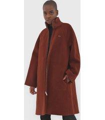 casaco lã lacoste sobretudo cotelê marrom