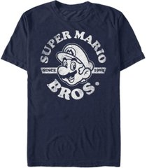 nintendo men's super mario bros. since 1985 short sleeve t-shirt