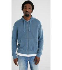 plush hooded sweatshirt jacket - black - xxl