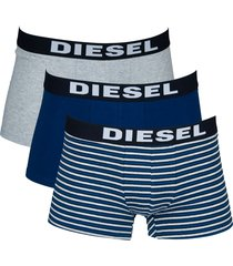 diesel boxershorts shawn 3-pak stripe grijs