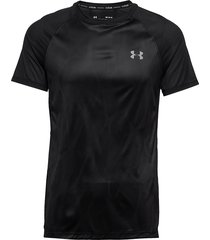 m ua qualifier iso-chill printed short s t-shirts short-sleeved svart under armour