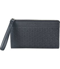 salvatore ferragamo travel clutch
