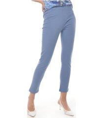 pantalon para mujer en pontiroma multicolor color-gris-talla-6