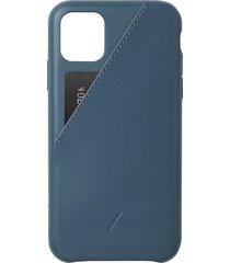 clic card iphone 11 pro max case - indigo