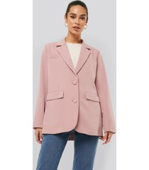 na-kd trend loose fitted blazer - pink
