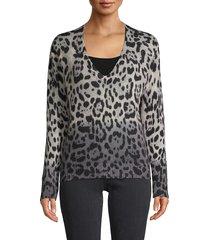 360 sweater women's leopard cashmere sweater - leopard - size s