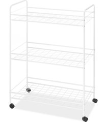 whitmor 3-tier large household rolling cart