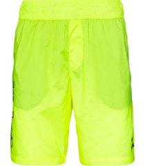 off-white arrows swim shorts - yellow