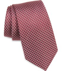 men's nordstrom aberlin micro neat silk tie, size regular - pink