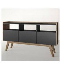 aparador buffet/bar petra preto e estilare móveis