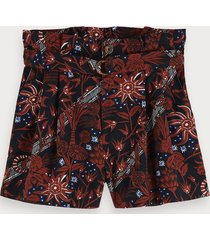 scotch & soda high-rise 100% cotton paper bag shorts