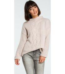 sweter z klasycznym splotem