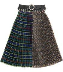 chopova lowena midi skirt with belt