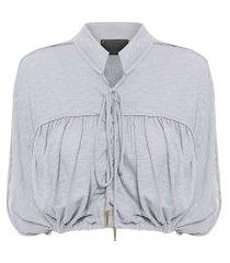 blusa feminina top suleima ab - cinza