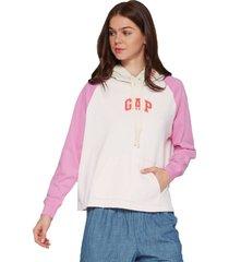 buzo blanco hueso-rosa gap