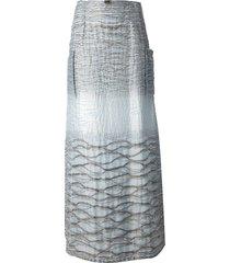 jean louis scherrer pre-owned a-line maxi skirt - blue