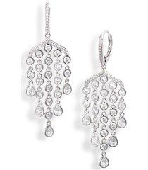 women's nadri bouquet floral chandelier earrings
