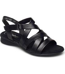ankle-stap sandal shoes summer shoes flat sandals svart gabor