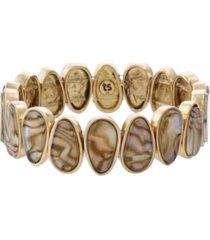 the sak mother of pearl stretch bracelet