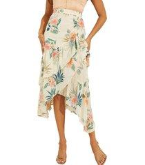 falda maritza ruffle skirt p1j6 blanco guess
