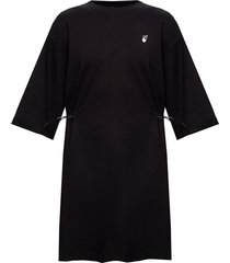 dress with ribbed trims