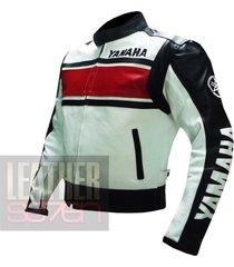 yamaha 5241 red leather motorcycle motorbike  stylish cowhide safety  jacket