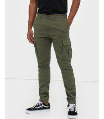 dr denim cooper cargo pants byxor emerald