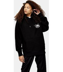 petite love nation hoodie - black
