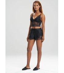 natori sleek lace shorts, women's, silk, size xs