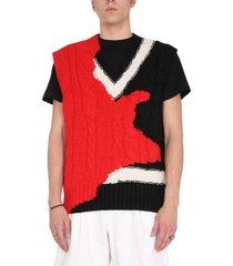alexander mcqueen ink bleeding inlay sweater