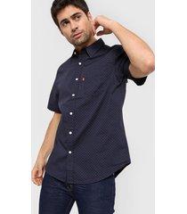 camisa azul levi's ss classic one pocket standard