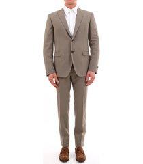 tonello beige suit in stetch wool