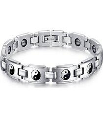 braccialetto di moda braccialetto catena in acciaio inossidabile l'otto bracciale per gli uomini