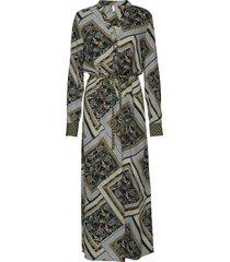 pzlemon dress knälång klänning grön pulz jeans