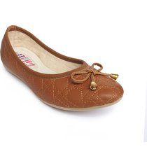 zapato tipo baleta casual color miel 962macarenamiel