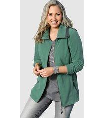 fleece vest miamoda groen