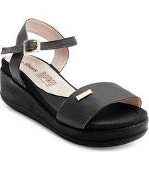 priceshoes sandalia confort dama 072m1960negro