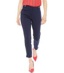 pantalón ash azul - calce ajustado