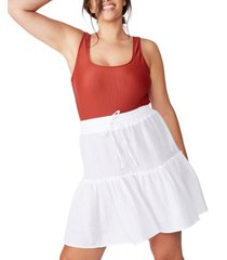 cotton on curve ruffle tiered skirt
