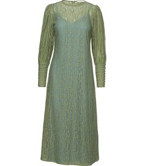 posalexandra lace dress maxi dress galajurk groen postyr