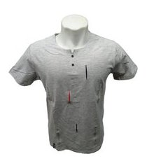 camiseta henley 2 botões gola portuguesa