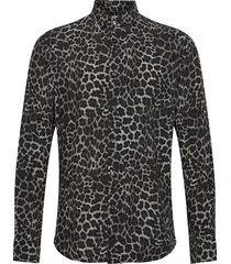 hasse slim shirt overhemd casual grijs oscar jacobson